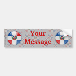 Dominican Republic Bubble Flag Bumper Sticker