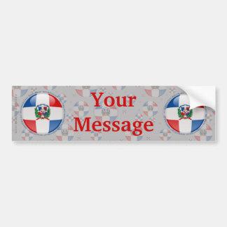 Dominican Republic Bubble Flag Bumper Sticker