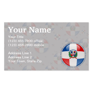 Dominican Republic Bubble Flag Business Card