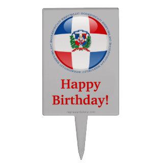 Dominican Republic Bubble Flag Cake Topper