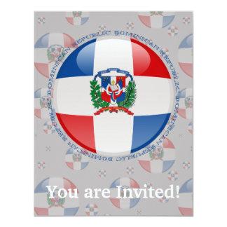 Dominican Republic Bubble Flag Card