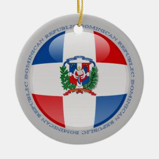 Dominican Republic Bubble Flag Ceramic Ornament