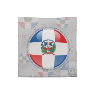 Dominican Republic Bubble Flag Cloth Napkin