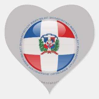 Dominican Republic Bubble Flag Heart Sticker