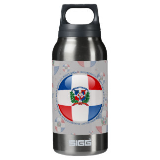 Dominican Republic Bubble Flag Insulated Water Bottle