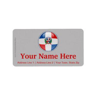 Dominican Republic Bubble Flag Label