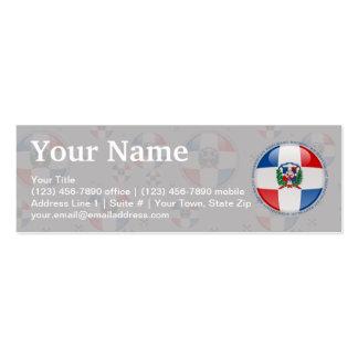 Dominican Republic Bubble Flag Mini Business Card