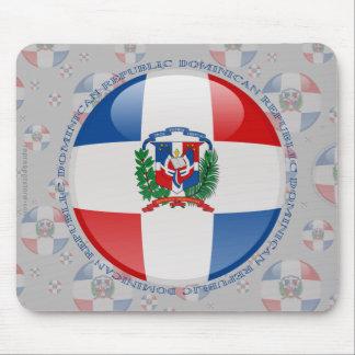 Dominican Republic Bubble Flag Mouse Pad