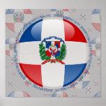 Dominican Republic Bubble Flag Poster