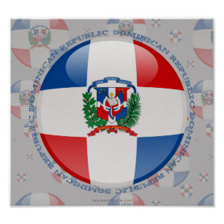 Dominican Republic Bubble Flag Posters