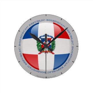 Dominican Republic Bubble Flag Round Clock