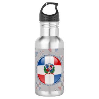Dominican Republic Bubble Flag Water Bottle