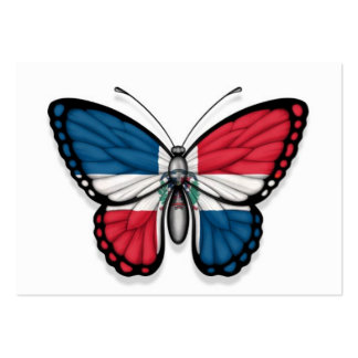 Dominican Republic Butterfly Flag Business Card Template