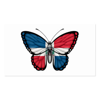 Dominican Republic Butterfly Flag Business Card