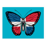 Dominican Republic Butterfly Flag Postcard