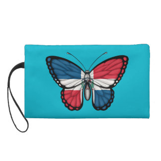 Dominican Republic Butterfly Flag Wristlet