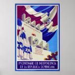 Dominican Republic Centennial Vintage Poster