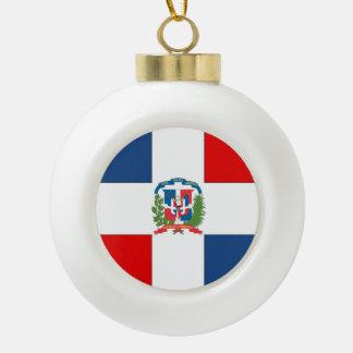 Dominican Republic Ceramic Ball Christmas Ornament