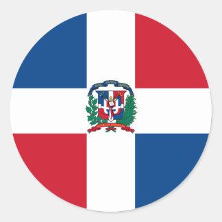 dominican republic classic round sticker
