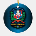 Dominican Republic COA Double-Sided Ceramic Round Christmas Ornament