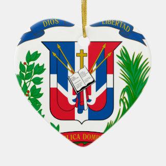 Dominican Republic Coat of Arms Ceramic Ornament
