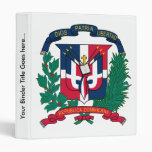Dominican Republic Coat of Arms detail 3 Ring Binder