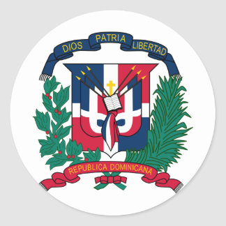 Dominican Republic Coat of arms  DO Classic Round Sticker