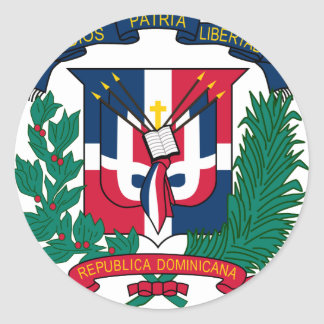Dominican Republic Coat of arms  DO Classic Round Sticker