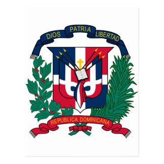Dominican Republic Coat of arms  DO Postcard