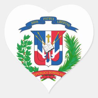 Dominican Republic Coat of Arms Heart Sticker