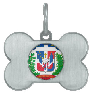 Dominican Republic Coat of Arms Pet Name Tags