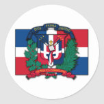 Dominican Republic Coat of Arms Round Stickers
