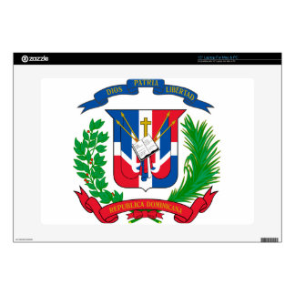 """Dominican Republic Coat of Arms Decal For 15"""" Laptop"""