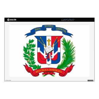 Dominican Republic Coat of Arms Decal For Laptop