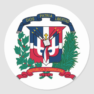 Dominican Republic coat of arms Classic Round Sticker