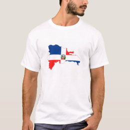 dominican republic country flag map shape symbol T-Shirt