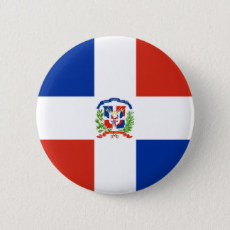 dominican republic country flag nation symbol long button