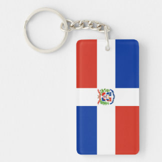 dominican republic country flag nation symbol long keychain
