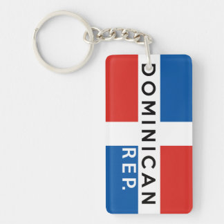 dominican republic country flag symbol name text keychain