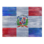 Dominican Republic distressed flag Postcards