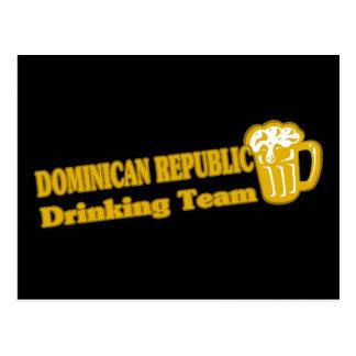 Dominican Republic Drinking Team Postcard