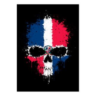 Dominican Republic Dripping Splatter Skull Business Card Templates