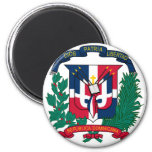 dominican republic emblem 2 inch round magnet