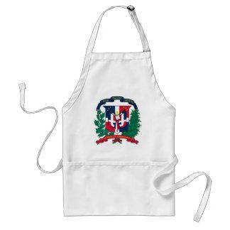 dominican republic emblem adult apron