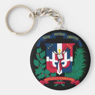 dominican republic emblem basic round button keychain