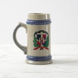 dominican republic emblem beer stein