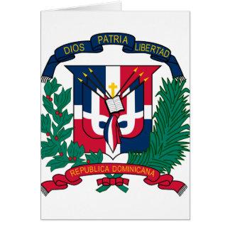 dominican republic emblem greeting card