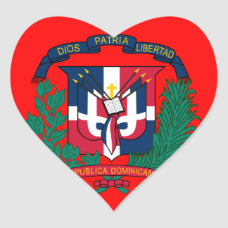 dominican republic emblem heart sticker