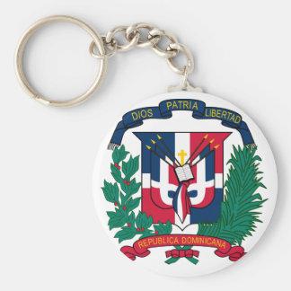 dominican republic emblem keychain