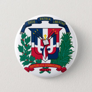 dominican republic emblem pinback button